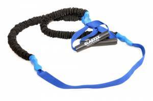 Elastic Stroops for Bosu with protective sleeve and strap, heavy resistance - blue. Length 215 cm.