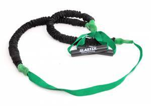 Elastic Stroops for Bosu and Step with protective sleeve and strap, very high resistance - green. Length 215 cm.