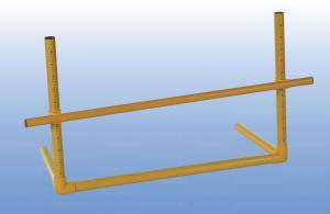 Plastic  adjustable hurdle from cm. 5 to cm.100.