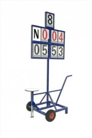 Mobile field event scoreboards 8 figures with seat.