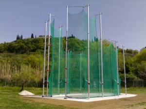 Protective cage for discus and hammer Iaaf approved