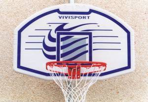 Backboard cm. 112x73 with basket and net.