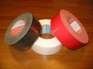 White marking adhesive tape.
