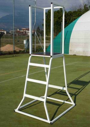 Volleyball referee stand in painted aluminium.
