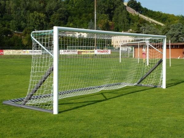 Porte Calcio A 7.Freestanding Soccer Goals 6x2 In Aluminium Welded Corner