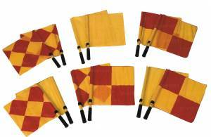 Set of 2 linesman flags complete with yellow flags.