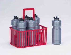 Water bottle (no. 6 pcs. 1 litre) complete with basket.