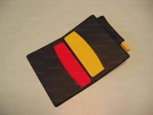 Referee card set with pencil.