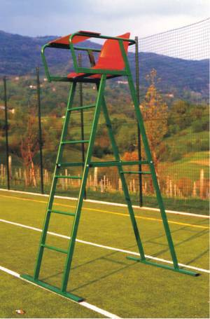 Tennis referee stand in painted steel.