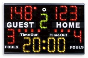 Electronic multisport scoreboard portable basket/volleyball/soccer to five/handball/water polo ping pong/kick-boxing