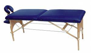 Massage bench in wood, can be dismountled, closing to suitcase
