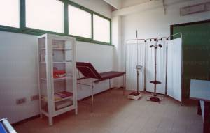 Glass closet, medicinal holder
