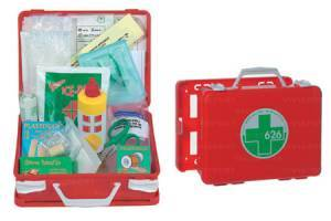 Medical case in abs, portable or wall mounted, complete with accessories.